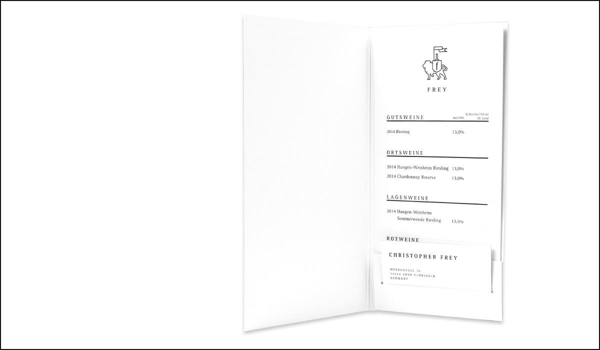 Weingut Frey – Corporate Design – Mappe
