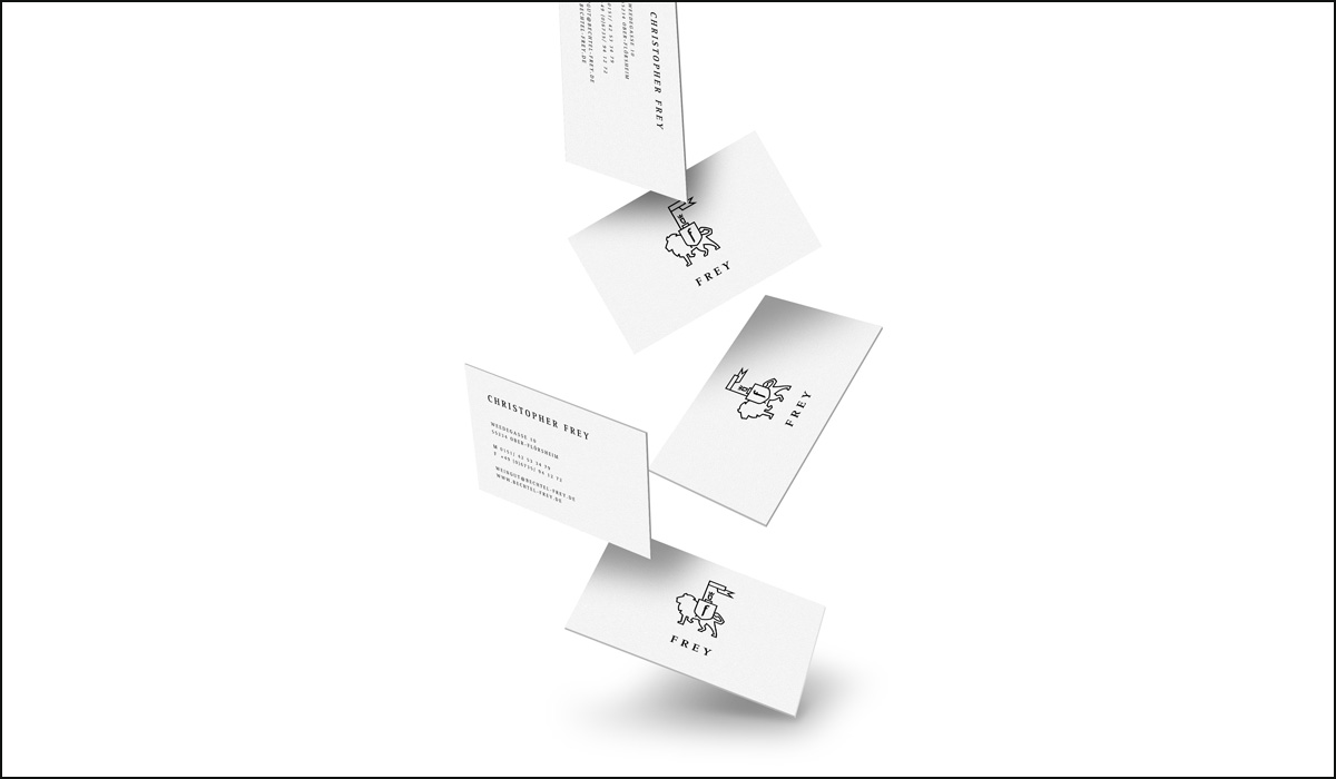Weingut Frey – Corporate Design – Visitenkarten Design